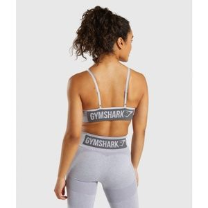 NWT Gymshark Flex Strappy Sports Bra Blue/Grey